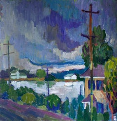 Storm over C&D Canal, Original Painting