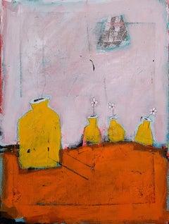 Little Yellow Bottles, Original Painting