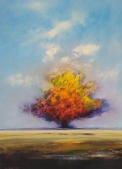 Harvest Field, Oil Painting