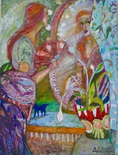 Redhead in the Mirror, Original Painting