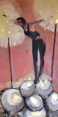 Balancing Act, Oil Painting