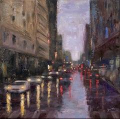 Ceaseless Rain, Oil Painting