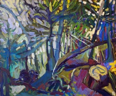 Forest with Fallen Tree, Original Painting