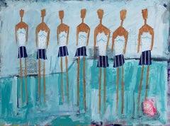 Blue Swim Team, Original Painting