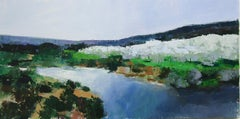 River and Olive Trees, Provence, Original Painting