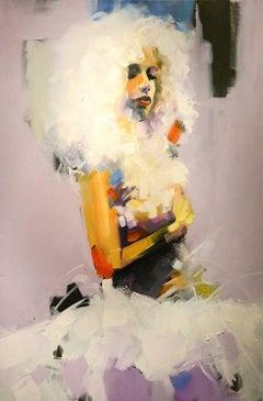 White Dancer, Oil Painting