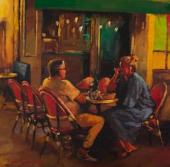 Wining and Dining in Provence, Oil Painting
