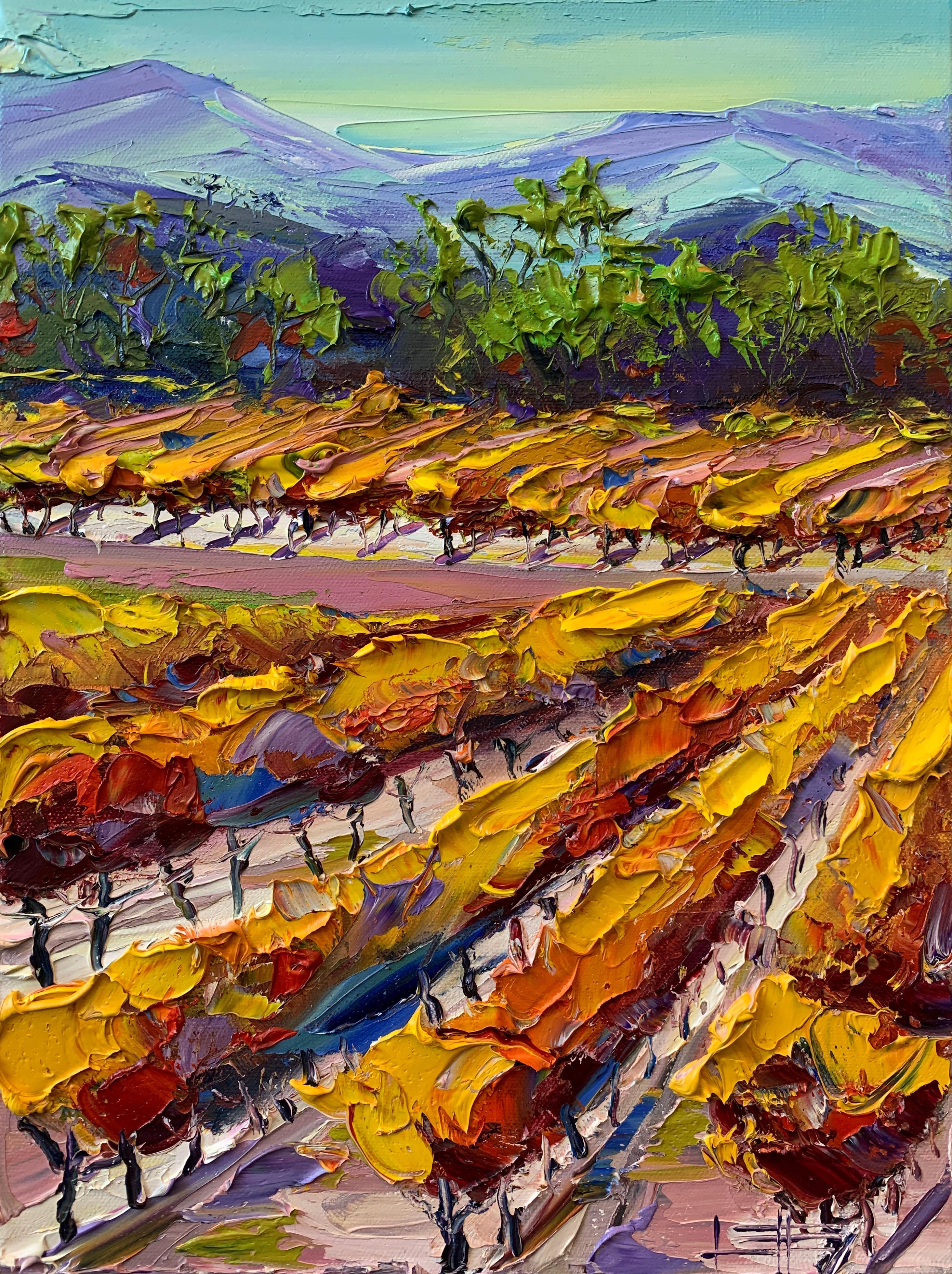 Autumn in Napa, Oil Painting