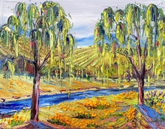 Napa Valley with Monet, Oil Painting