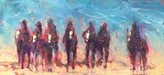 Cowboys on Horseback 10, Abstract Painting