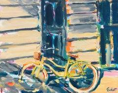 Yellow Bicycle, Original Painting