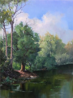 Afternoon by the Riverside, Oil Painting