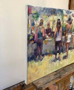 Sunny Market, Oil Painting