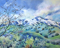 Snow Kissed Mt. Diablo, Original Painting