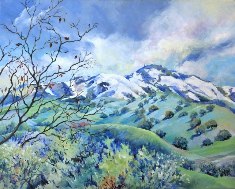 Catherine McCargar Landscape Painting - Snow Kissed Mt. Diablo, Original Painting