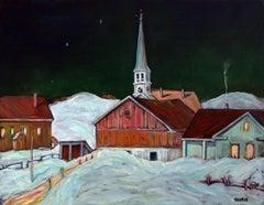 Peacham Vermont Nocturne, Oil Painting