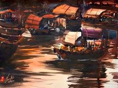 Hong Kong - The Boat Trader, Original Painting