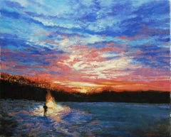 Winter Solstice Dawn, Oil Painting