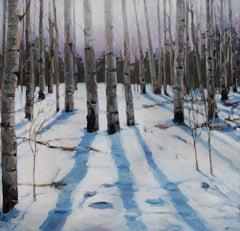 Storm Glow in Aspen Grove, Original Painting