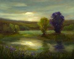 Moonlit Glow, Oil Painting
