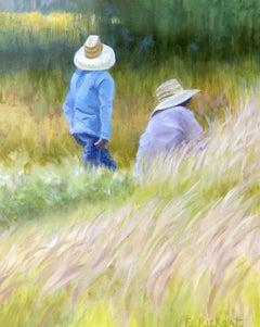 Men at Work, Oil Painting