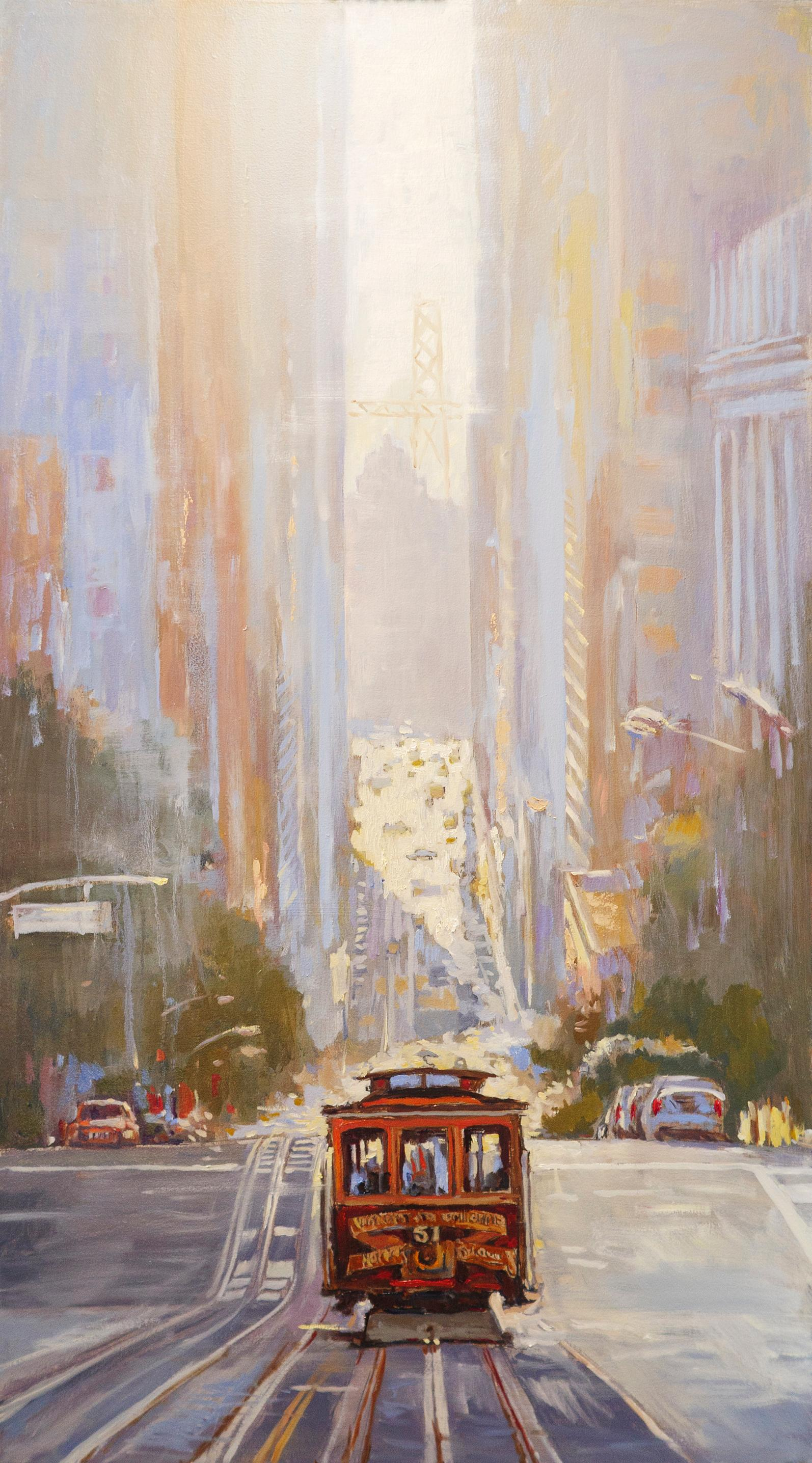 Cable Car No. 51 near Financial District, Oil Painting