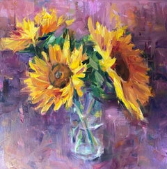 Sunflowers, Oil Painting