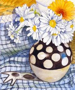 Daisies, Dots, Circles, Original Painting