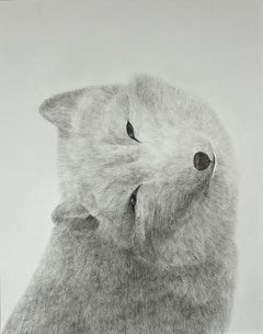 Friends for a Sobering Time 07 Snow Fox, Original Painting