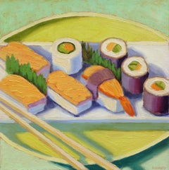 Sushi Plate, Oil Painting