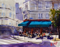 Cafe Le Chinon, Original Painting
