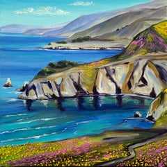 Spring in Big Sur, Oil Painting