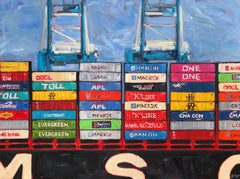 Container Ship 1, Original Painting