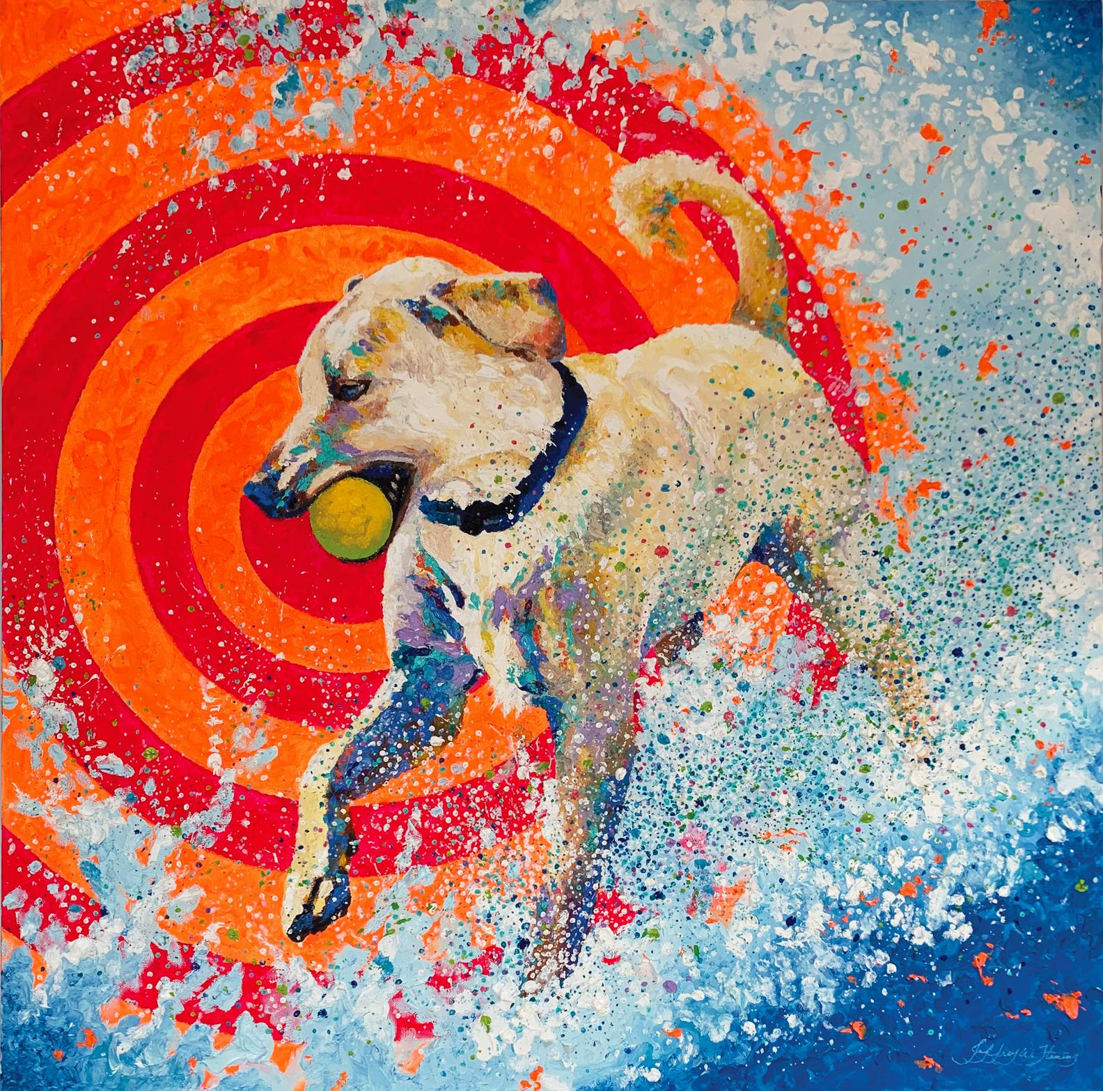 Pop Dog, Oil Painting