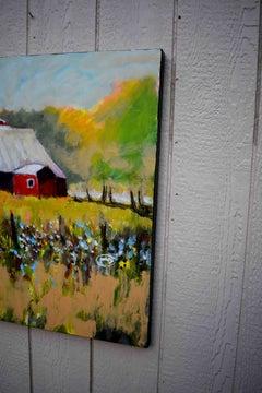 Farm Red, Original Painting