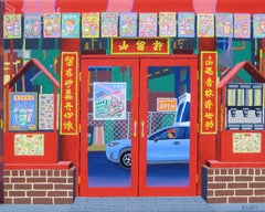 Teahouse, Original Painting