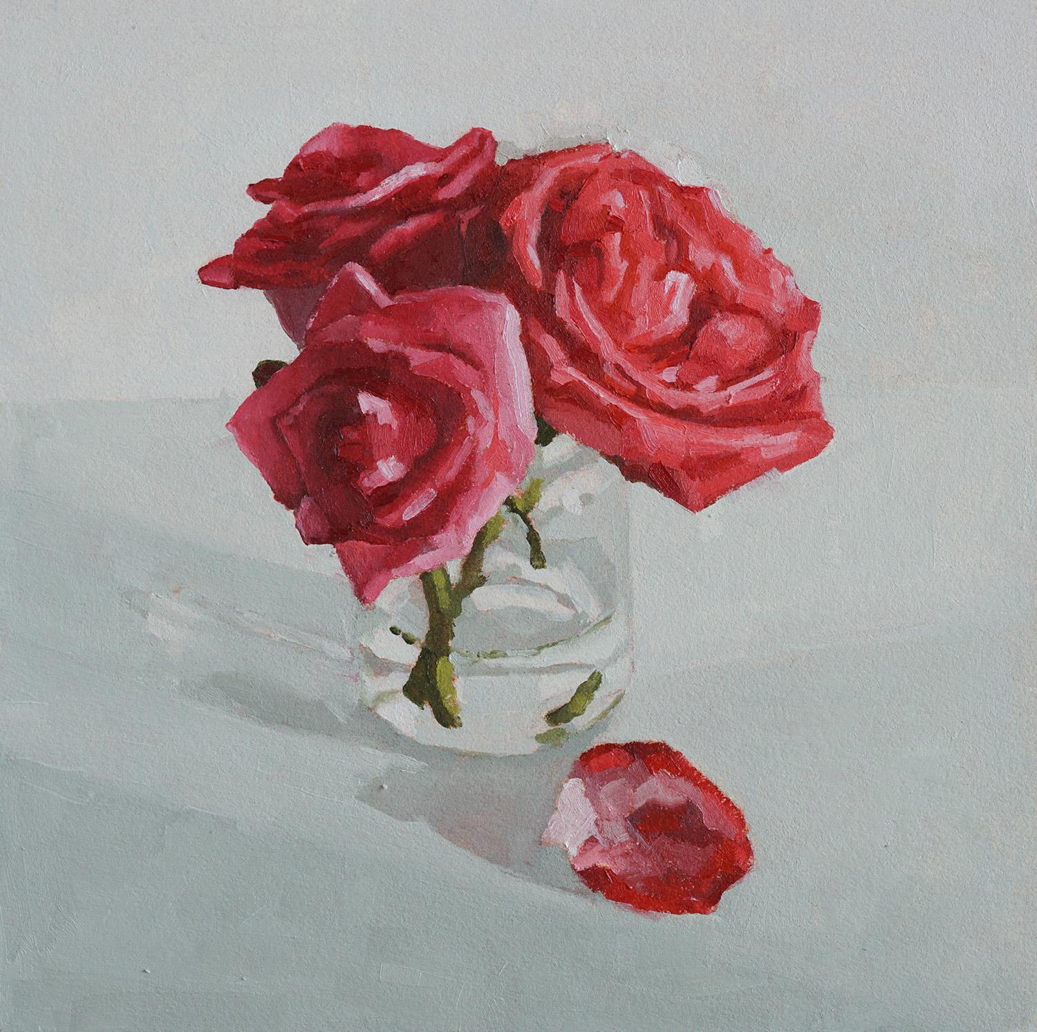 February Roses, Oil Painting