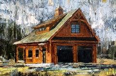 Orange Barn, Oil Painting