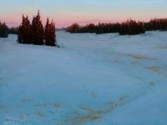 Snow Cedar Mountain Range, Oil Painting