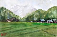 Rice Field, Original Painting