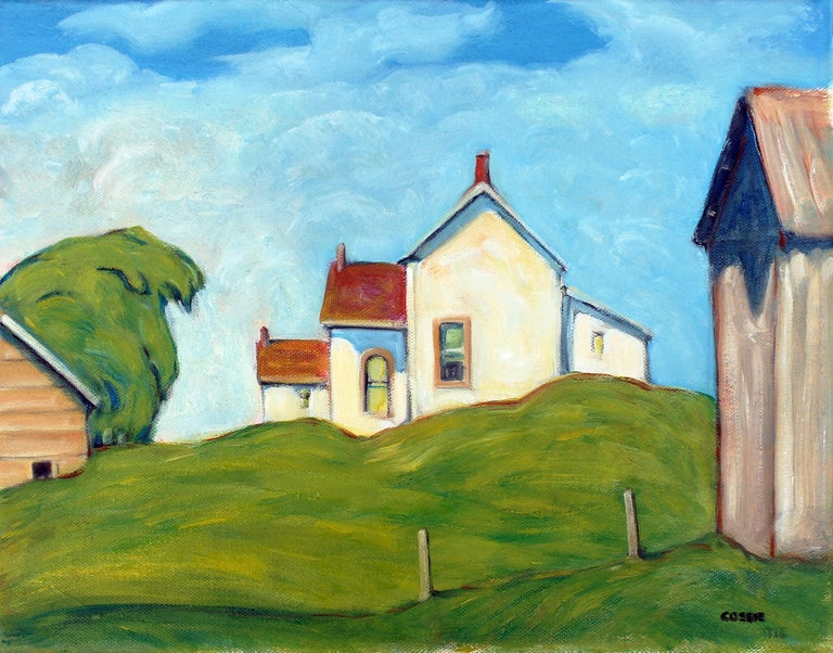 Doug Cosbie Landscape Painting - Ontario Farm - Ottawa Valley, Oil Painting