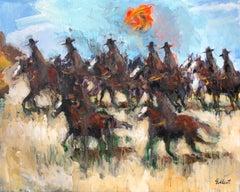 9 Cowboys, Original Painting