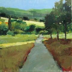 Sunlight on Path, Provence, Original Painting