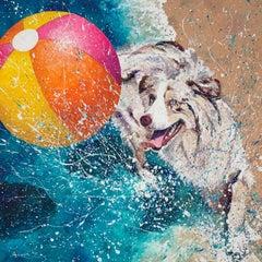 Splishin and a Splashin, Oil Painting