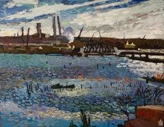 Curtis Creek, Baltimore, Original Painting