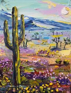 Desert Bloom, Oil Painting