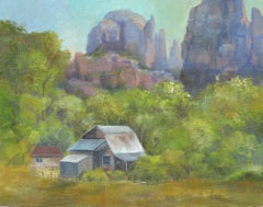 Cathedral Rock Ranch, Oil Painting