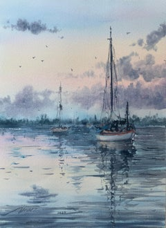 The Settled Boats, Original Painting