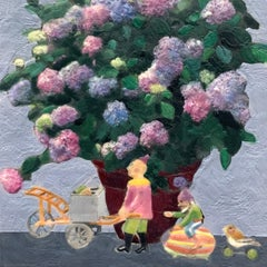 Hydrangea Mania, Original Painting