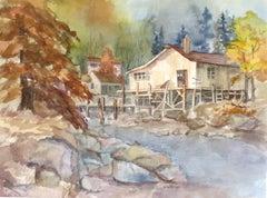 Cabin Hideaway, Original Painting